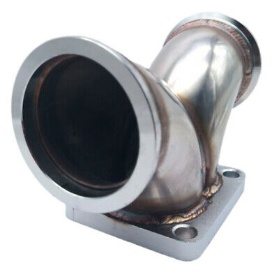 $ CDN83.07 • Buy Turbo T4 Twin Scroll Flange To 2.5  V-band Dual Inlet Y Elbow Exhaust Adapter