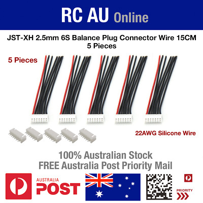 AU9.60 • Buy 6S JST-XH Balance Plug Connector Wire - 5pc - Aust Post Priority Shipping
