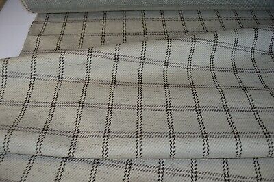 £7.99 • Buy Biscuit Beige Upholstery Fabric Check Chenille Checked Robust Thick