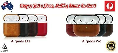 AU9.99 • Buy Leather Protective Tough Slim Cover Case For Apple AirPods 1 & 2 / Airpods Pro