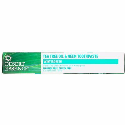Tea Tree Oil & Neem Toothpaste, Wintergreen, 6.25 Oz (176 G) - Desert Essence • 15.56£