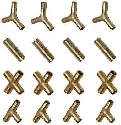 Solid Brass Tee, Straight,4 Way,Y Joiner Various Piece Hose Joiner Connector  • 5.15£