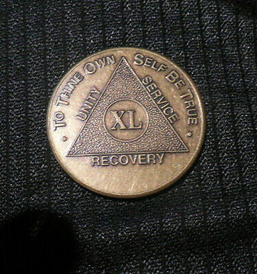 $3.20 • Buy Aa Alcoholics Anonymous Bronze  40 Year Recovery Sobriety Coin Token