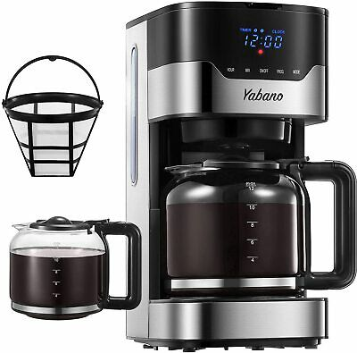 View Details Yabano Coffee Maker Drip 1.5L12 Cups Filter Reusable Timer Programmable • 177.63£