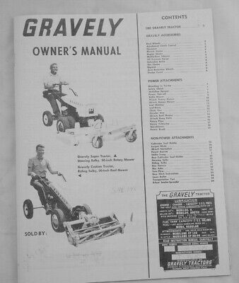 AU17.10 • Buy 1961 Gravely Custom & Super 2 Wheel Tractor Owner's Manual W/ Implements Listing
