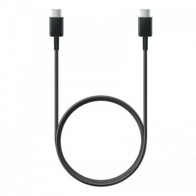 AU11.95 • Buy Genuine Samsung Type C To Type C Cable Cord - Black FAST Charge S20 S21 USB-C