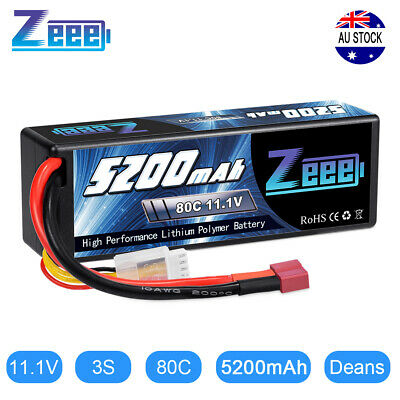AU48.99 • Buy Zeee 5200mAh 80C 3S 11.1V Deans Hardcase LiPo Battery For RC Car Heli Truck Boat