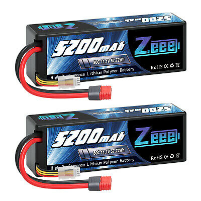 AU90.99 • Buy 2PCS 5200mAh 80C 3S 11.1V Deans Plug LiPo Battery For RC Car Helicopter Airplane