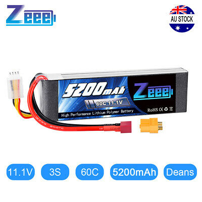 AU45.99 • Buy 5200mAh 60C 11.1V 3S LiPo Battery Deans For RC Airplane Helicopter Drone Car