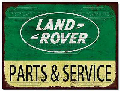 Land Rover Parts And Service Metal Sign Auto Rusty Tool Garage Workshop Man Cave • 4.95£