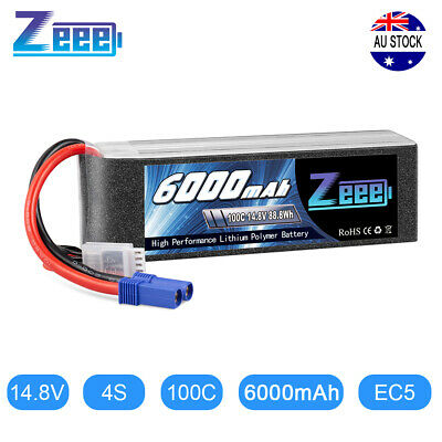 AU77.99 • Buy 6000mAh 4S EC5 Plug 60C 14.8V LiPo Battery For RC Helicopter Boat Car Truck