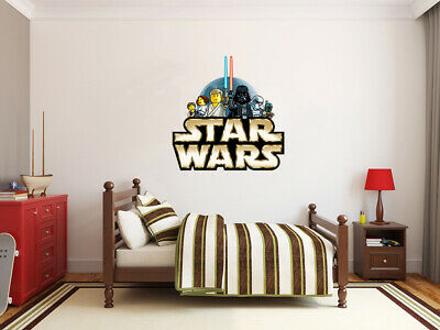 LEGO Classic Star Wars Logo LARGE VINYL WALL STICKER DECALS CHILDREN Room 78m • 11.50£