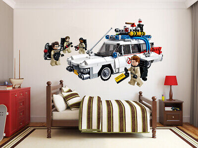 Lego Ghostbusters Cars LARGE VINYL WALL STICKER DECALS CHILDREN Room 134m • 4.50£