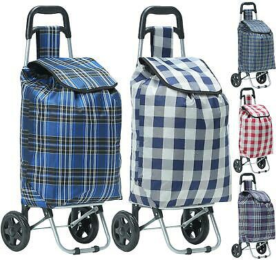 Folding 2 Wheeled Lightweight Shopping Trolley Luggage Bag Case Cart Printed • 10.99£
