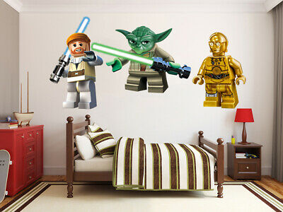 Lego Star Wars LARGE VINYL WALL STICKER DECALS CHILDREN Room 135m • 8.50£