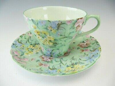 Shelley Cup & Saucer New Cambridge Shape Melody Chintz • 54.86£