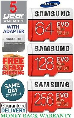 $24.99 • Buy SAMSUNG EVO Plus Micro SD 64,128,256GB Class10 U3 Flash Memory Card W/SD Adapter
