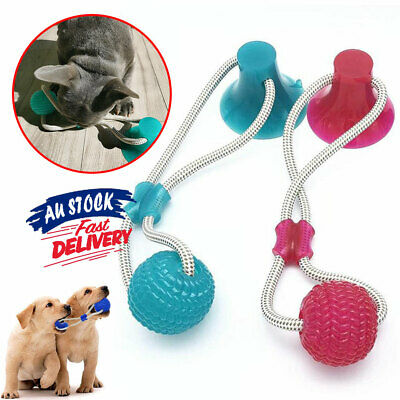AU16.95 • Buy Multifunction Tug Toys Suction Ball Teeth Cleaner Chewing Pet Molar Pup  Pet