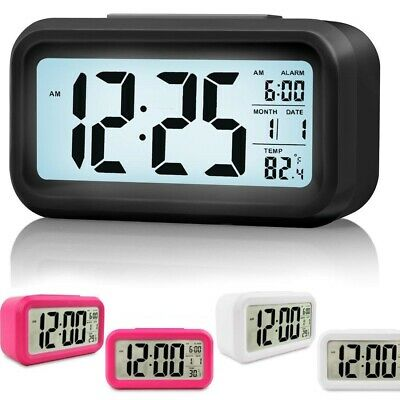 AU15.19 • Buy Battery Operated LCD Display Digital Smart Alarm Clock Snooze Blight Temperature