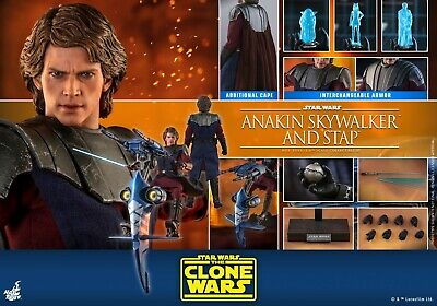 $ CDN634.19 • Buy Hot Toys 1/6 Anakin Skywalker And STAP Collectible Set Star Wars: The Clone Wars