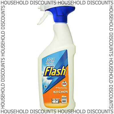 1 X Flash Kitchen Spray Degrease Effect Removes Grease Grime Citrus Scent 450ml  • 4.79£