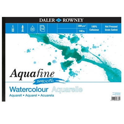 £15.99 • Buy Daler Rowney Aquafine Watercolour Pad Hot Pressed HP 140lb / 300gsm - A3 SMOOTH