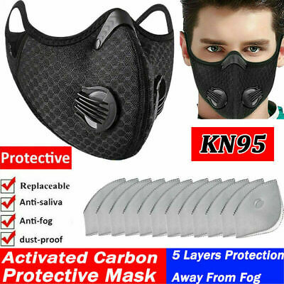 $ CDN12.17 • Buy Cycling Nose Mouth Reusable Cover &10X Carbon Filter Purify Washable Respirator