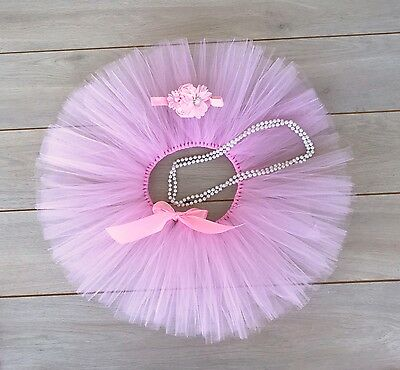 AU38 • Buy Cake Smash Outfit - First Birthday Tutu Set -Photography Photo Prop - Light Pink
