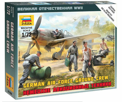 Zvezda 1/72 Figures - German Air Force Ground Crew Z6188 • 4.95£