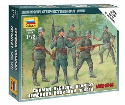 Zvezda 1/72 Figures - German Regular Infantry 1939 - 1943 Z6178 • 4.95£