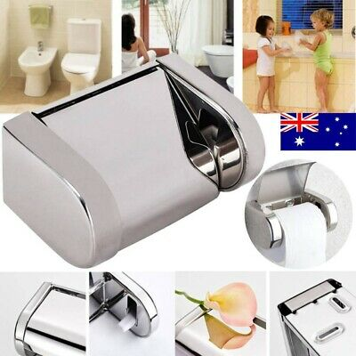 AU12.34 • Buy 304 Stainless Steel Toilet Paper Roll Holder Tissue Bath Accessory Storage Hooks