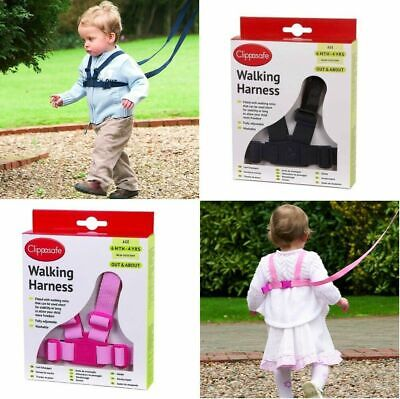 Baby, Child & Toddler Walking Harness & Safety Reins Adjustable Travel Lead • 8.45£