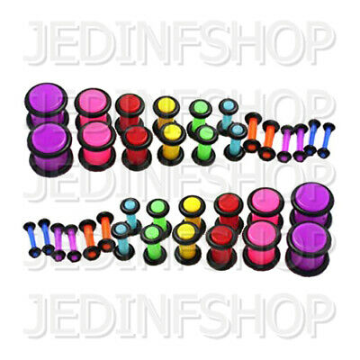 Ear Plug Stretcher - Straight O-Ring | 1.6mm-10mm | Acrylic Pair - 25 Colours • 4.55£