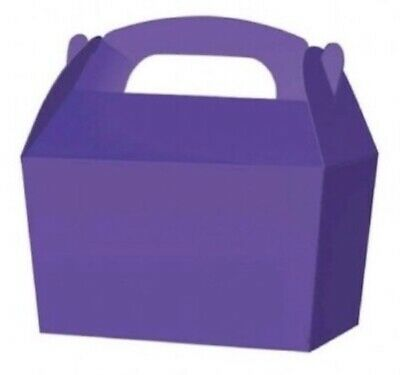 £3.89 • Buy Purple Party Wedding, Celebrations, Birthday Cake, Favour, Loot, Boxes