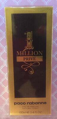 $ CDN118 • Buy 1 One Million Prive By Paco Rabanne Cologne/ Parfum 3.4oz/100ml MEN New In Box