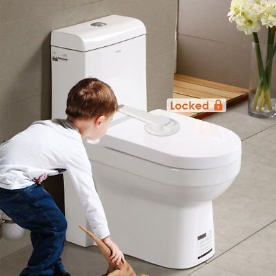 £6.58 • Buy Adhesive Kids Children Baby Safety Lock Catch For Toilet Seat Toilet Lid Lock US