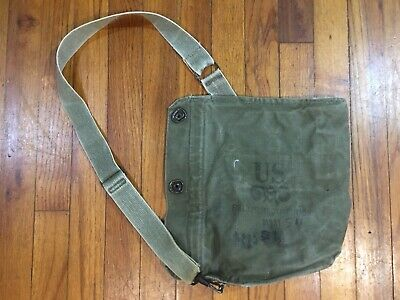 $22.75 • Buy  Vintage U.S. MILITARY FIELD PROTECTIVE MASK BAG POUCH 210 / M9A1 WWII Used