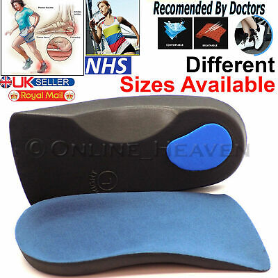 Orthotic Arch Support Insoles For Plantar Fasciitis Fallen Arches 3/4 Flat Feet • 3.65£