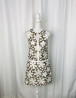 $ CDN88.25 • Buy W By Worth Tan And White Floral Lace Sheath Dress Size 0 - MSRP $298
