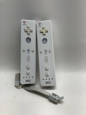 $ CDN39.53 • Buy 2 Nintendo Wii Remote Controllers OEM White RVL-003 Tested- COSMETIC ISSUE