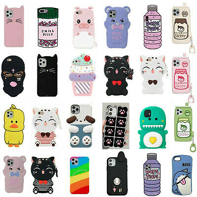 AU5.95 • Buy Cute 3D Cartoon Silicone Kids Cover Case For IPhone 8 7 6 Plus 5 4 XR 11 Pro MAX