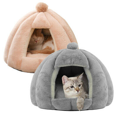 £15.95 • Buy Cat Cave Beds Pet Dog For Indoor Cats Cozy House Wool Igloo Warm Nest Kennel
