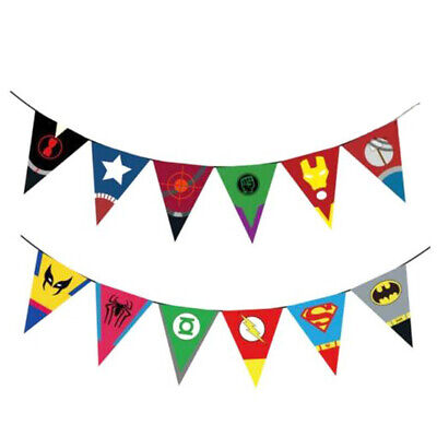 The Avengers Superhero Buntings Banner Birthday Garlands Party Decoration Decor • 3.99£