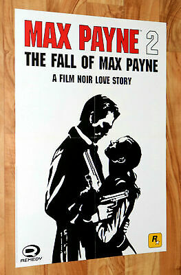 2003 Max Payne 2 The Fall Of Max Payne Very Rare Poster 56x40cm PS2 PS3 Xbox  • 64.99£