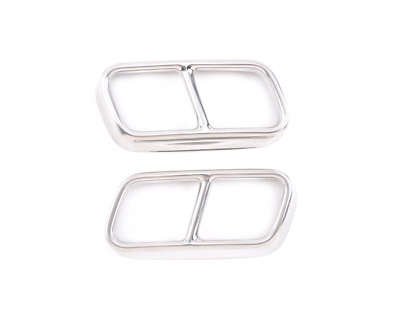 $ CDN41 • Buy 2x For BMW 7 Series F01 2009-2014 Exhaust Muffler Pipe Tip Cover Trim Silver