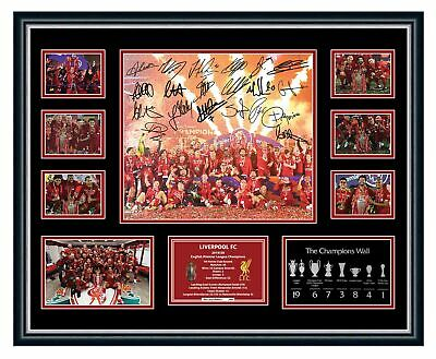 AU90 • Buy Liverpool Fc 2020 Epl Premier League Champions Signed Framed Memorabilia Salah