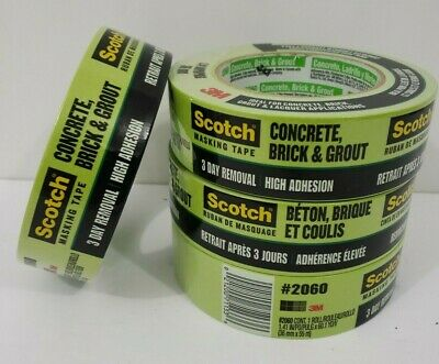 $ CDN17 • Buy LOT OF 4 - Scotch 3M Masking Tape For Rough Surfaces - Concrete, Brick And Grout