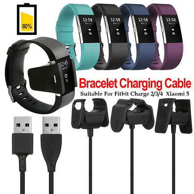 $ CDN5.09 • Buy USB Charger Charging Cable Cord Wire For Fitbit Charge 2/3/4 Xiaomi 5 Bracelet