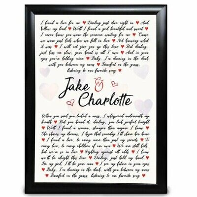 AU22.83 • Buy Personalised Anniversary Gift Wedding Valentines Day Birthday For Him Her Print