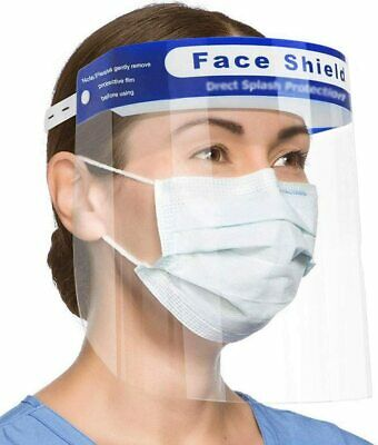 Face Shield Full Face Visor Protection Mask PPE Shield Clear Safety Transparent • 4.99£